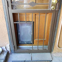 Hale medium pet door and security door install