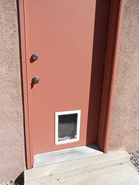 Hale small pet door in door install