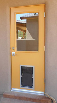 Hale medium pet door in door install